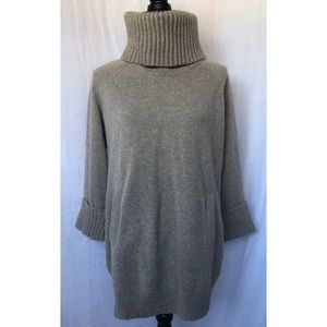 Gap Turtleneck Wool 3/4 Sleeve Pocket Sweater